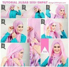 Tutorial Hijab headscarf image Creative Paris To to Party Tutorial Hijab Modern, Tutorial Hijab Pesta, Hijab Style Tutorial, How To Wear Hijab, Simple Hijab, Head Scarf Styles, Celebrity Travel, Bodo, Hijab Outfit