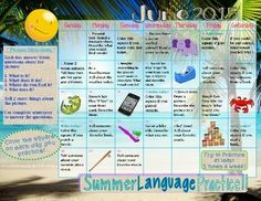 This packet is for at home summer activities to practice language skills. Each day provides an activity for your child/student to practice their language skills. They either are asked to describe a provided picture or do something like talk about their favorite movie.