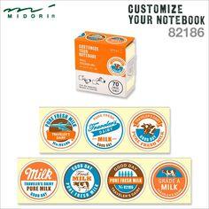 Midori CUSTOMIZE Sticker Roll // Milk | The Journal Shop