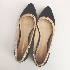 NWOT Wild Diva Studded Flats Size 8. Never worn. Inside label is rubbing off but that's it. Wild Diva Shoes Flats & Loafers