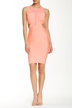 Mesh Inset Cutout Dress by Wow Couture on @HauteLook