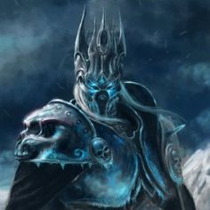 the Lich King Dark Fantasy Art, Fantasy Artwork, Fantasy World, Dark Art, Dc Comics, Lich King, Death Knight, Warcraft Art, Heroes Of The Storm
