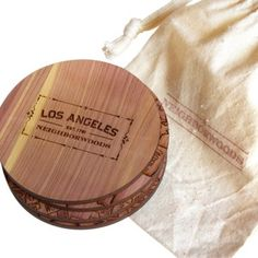 Check out this item at One Kings Lane! S/4 Cedar Los Angeles Coasters
