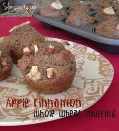 Slim Sanity: Apple Cinnamon Whole Wheat Muffins
