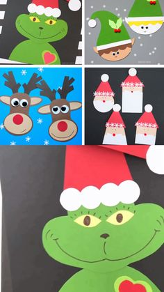 Non-Toy Gifts Christmas crafts for preschoolers, kindergartners and older kids. Grinch craft, Santa, craft, elf craft and reindeer craft. Easy paper Christmas crafts for the classroom. Use the Christmas printable templates for these holiday crafts. Preschool Christmas Crafts, Santa Crafts, Reindeer Craft, Winter Crafts For Kids, Halloween Crafts, Holiday Crafts, Reindeer Food, 2nd Grade Christmas Crafts, Reindeer Drawing