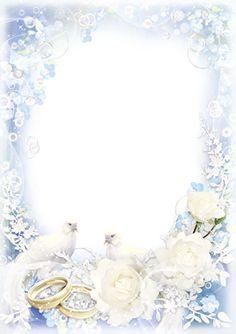 Wedding photo frame for Photoshop with doves and roses - White wedding tender veils Wedding Invitation Background, Wedding Invitation Card Design, Wedding Card Design, Printable Wedding Invitations, Wedding Veils, Wedding Cards, Wedding Rings, Wedding Frames, Wedding Photos