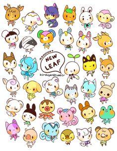 "birduyen: ""animal crossing: new leaf stickers~! """