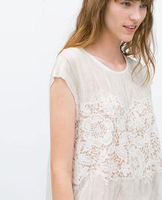 Image 4 of GUIPURE T-SHIRT from Zara