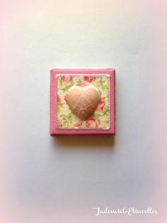 """* ST-VALENTIN * Mini toile décorative série """" De mon cœur à ton cœur..."""" n°8 : Accessoires de maison par jademiel-etincelles"""