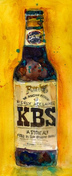 Beer Print KBS Founders Brewing Co. Art Print from by dfrdesign