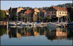 ღღ Picturesque Port of Lutry, Lausanne, Switzerland