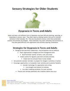Dyspraxia in Teens a