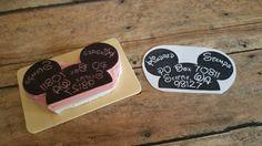Custom Mickey Ears Return Address Label Rubber Stamp