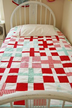 red, white, green, perfection. plus (hee hee), i have always wanted beds just like this for my girls.