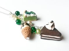 Mini Food Necklace  cake necklace food by InspirationsByNell, $20.00