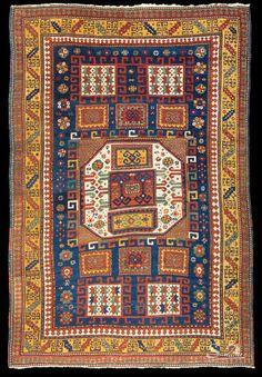 Kazak Karaciof, Caucaso sud-occidentale, seconda metà del XIX secolo, lana su…