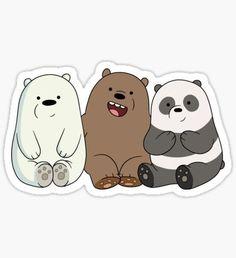 Resultado de imagen de we bare bears stickers