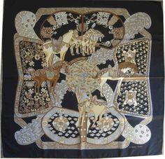 Hermès - Art des Steppes, signé Annie Faivre