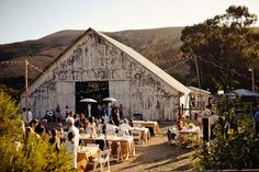 barn wedding reception outside