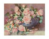 Roses in a Porcelain Bowl Art by Emile Vouga at AllPosters.com