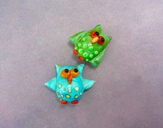 Owl Beads - Lampwork Glass Creation SRA by SUZOOM on Etsy