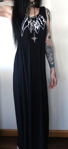 Morbid Girls Maxi Dress by HellCouture on Etsy, $140.00