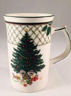MIKASA Christmas Story Tall Mug CAB08 Cappuccino Cup Hot Chocolate Coffee Cup #Mikasa