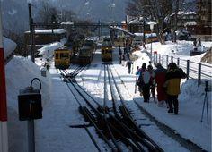 The train station in Wengen, Switzerland