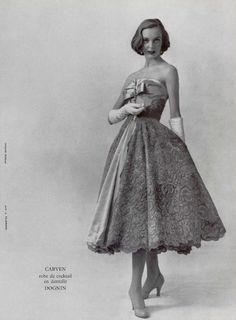 Carven, 1955 #50s #Fashion