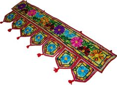 multicolor Indian cotton window valance topper by TuganaCraft