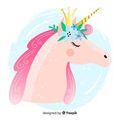 Unicorn Vectors, Photos and PSD files Unicorn Illustration, Cute Animal Illustration, Graphic Illustration, Happy Unicorn, Unicorn Face, Photo Booth Party Props, Unicorn Backgrounds, Unicornios Wallpaper, Sweet Drawings