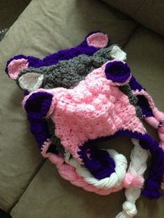 Lamb Beanie by LovelyThingsCrochet on Etsy