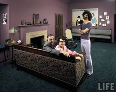 Frank Zappa with his parents by John Olson