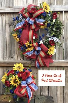 Excited to share this item from my shop: Patriotic Wreath, Patriotic Cente. Summer Door Wreaths, Wreaths For Front Door, Holiday Wreaths, Patriotic Wreath, Patriotic Decorations, 4th Of July Wreath, Picture Frame Wreath, Summer Centerpieces, Mothers Day Wreath