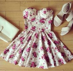.floral dress with white bag and sandles