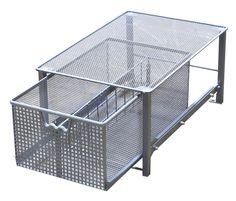 Amazon.com - DecoBros Mesh Cabinet Basket Organizer, Silver (Medium - 10 X 16 X 5.6) - Cabinet Pull Out Organizers