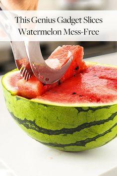 This Genius Gadget Slices Watermelon Mess-Free via @PureWow
