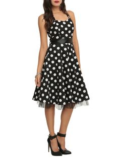 http://www.hottopic.com/hottopic/Girls/Dresses/Black And White Polka Dot Swing Dress-10287998.jsp