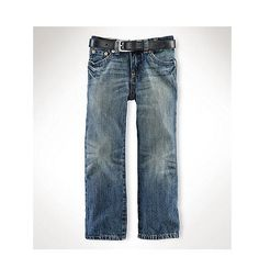 Polo Ralph Lauren Toddler Boy's Slim 381 Denim Jeans Mott Wash Size 2T #RalphLauren #Jeans #Everyday