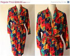 On Sale Vintage 1980s Dress  Vintage by MothersGardenVintage