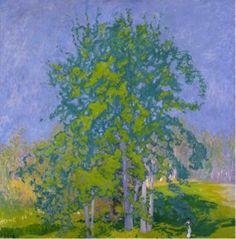 Ellen Thesleff Landscape Art, Landscape Paintings, Female Painters, Gelli Arts, Paintings I Love, Tree Paintings, Canadian Art, Elements Of Art, Claude Monet