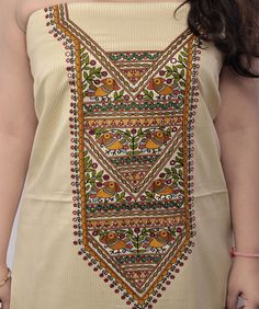 Handloom Saree, Kurti, Balochi Dress, Hand Painted Sarees, Cold Porcelain Flowers, Madhubani Painting, Hand Embroidery, Designer Dresses, Clothes For Women