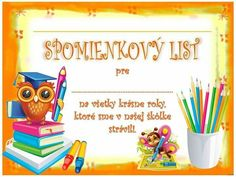 Výsledok vyhľadávania obrázkov pre dopyt detské básne School Frame, Preschool Graduation, Certificate, Back To School, Children, Kids, Diy And Crafts, Kindergarten, Homeschool