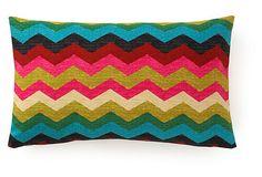 Salta 12x20 Cotton Pillow, Multi on OneKingsLane.com. More bright chevron for me :)
