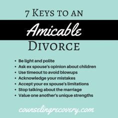amicably divorced and dating