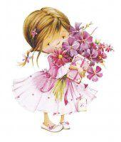 happy birthday my friend Girl Cartoon, Cute Cartoon, Cute Images, Cute Pictures, Birthday Greetings, Happy Birthday, Art Mignon, Decoupage Paper, Cute Illustration