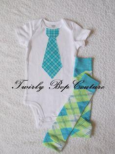 1st Birthday Baby Boy Tie Onesie and Leg by twirlybopcouture