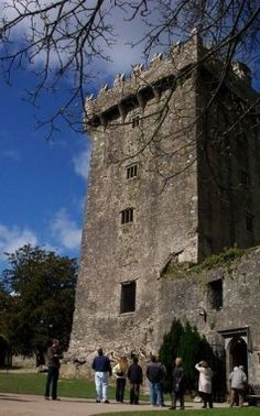 High atop the Blarney Castle is one of Ireland's most famous tourist attractions: The Blarney Stone. It's easy to see, both from the battlements and from the ground. What's not so easy is kissing it, yet even Winston Churchill bent over backwards to gain the gift of gab.