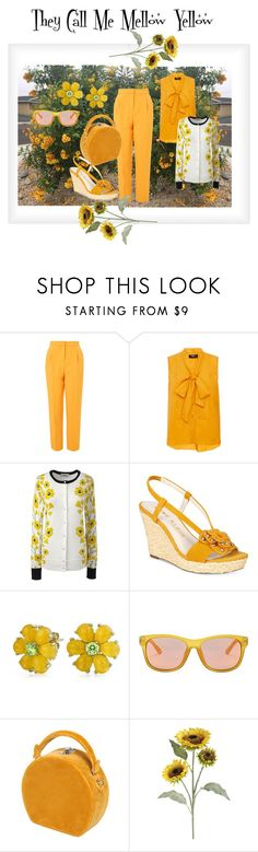 """""""They Call Me Mellow Yellow"""" by jostockton ❤ liked on Polyvore featuring Topshop, Paule Ka, Lands' End, Anne Klein, Bling Jewelry, Gucci, Bertoni and Pier 1 Imports"""