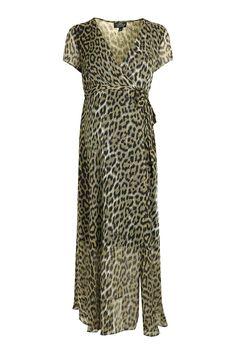 MATERNITY Animal Print Midi Dress - Maternity - Clothing - Topshop